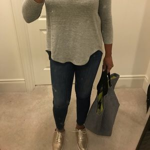 XS Seven Sisters Grey Open Back Light Sweater!